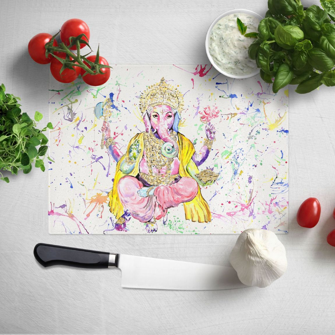Glass worktop saver/chopping board ( (Ganesh)